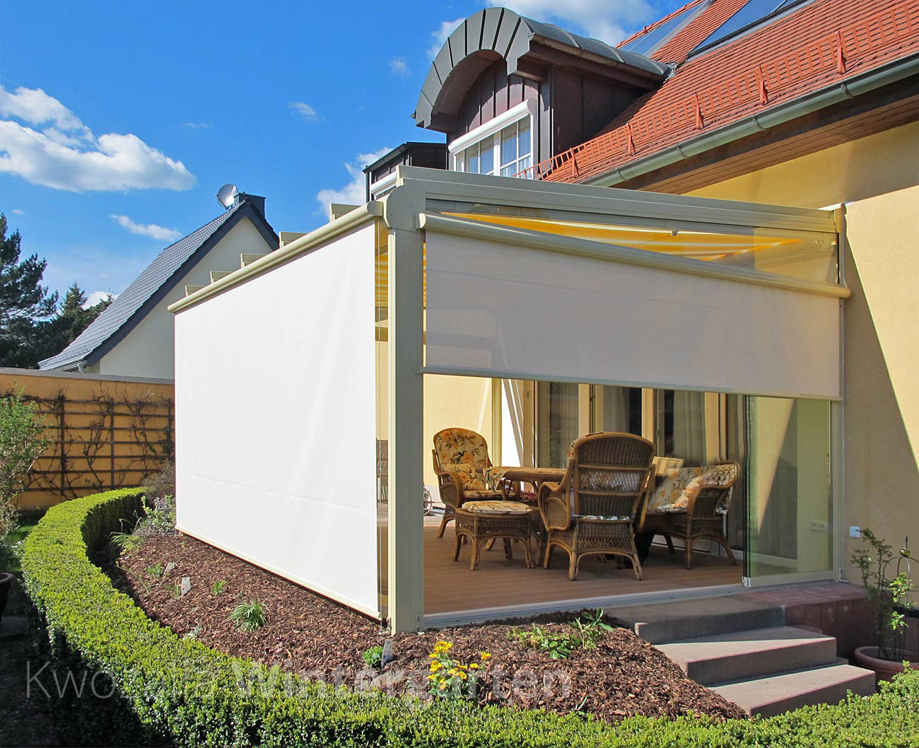 Glashaus Wintergarten hitze im wintergarten wirkungsvoll verhindern kwozalla
