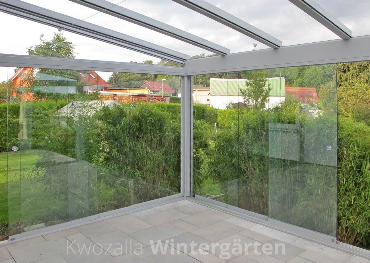 Elegante Wintergärten Glashäuser Terrassendächer Kwozalla