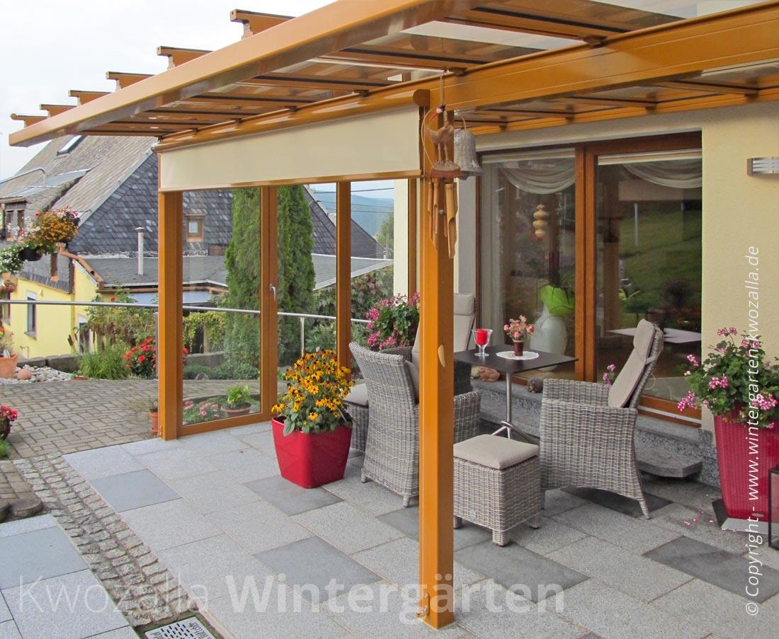 Senkrechtmarkise In Bewahrter Qualitat Von Kwozalla Wintergarten